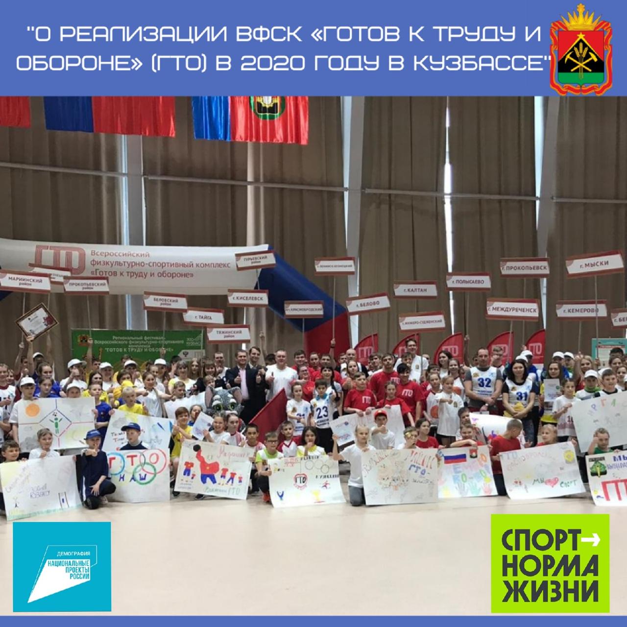Реализация ВФСК ГТО в Кузбассе